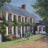 Belle demeure en Ile-de-France [Huile - 50 x 65]