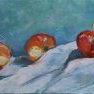 Pommes et coings - Etude 2 [Huile - 20 x 50]