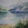 Traversée du lac [Aquarelle - 40 x 50]