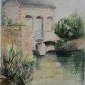 En Mai, au bord du Loir [Aquarelle - 50 x 40]