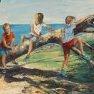 Le trio grimpeur [Huile - 50 x 70]