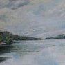 Temps gris aux étangs de Hollande [Huile - 33 x 55]