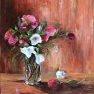 Bouquet et fleur délaissée [Huile - 55 x 46]