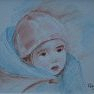 Emmitouflée [Crayon aquarelle - 15 x 20]