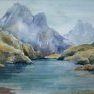 Le Lac Blanc [Aquarelle - 30 x 40]