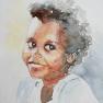 Sourire brésilien (Pixinha) [Aquarelle - 40 x 30]
