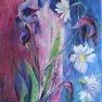 Iris et compagnie [Acrylique - 60 x 30]