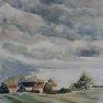 Promesse d'orage aux Piffaudières [Aquarelle - 50 x 40]