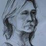 Etude de visage [Fusain - 60 x 40]