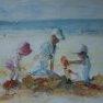 Etude pour jeux de plage [Aquarelle - 40 x 50]
