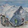 En face du Mont Blanc [Aquarelle - 30 x 40]