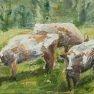 Trois vaches [Esquisse - 20 x 27]
