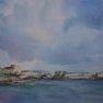 Ciel de Jersey [Aquarelle - 40 x 50]