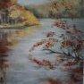 Temps gris à l'étang d'Or [Huile sur toile -70 x 50]