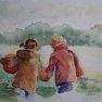 Etude pour « Promenade » [Aquarelle - 20 x 30]