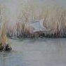 Envol du héron [Aquarelle - 40 x 50]