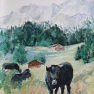 En passant par « Bovine » [Acrylique - 40 x 30]