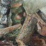 Les bûches [Acrylique - 40 x 80]