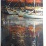 Vieux port à Honfleur [Pastel - 60 x 50]
