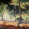 Sous-bois en forêt de Rambouillet [Acrylique sur toile - 90 x 60]