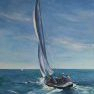 Le voilier d'Antoine [Huile - 65 x 50]