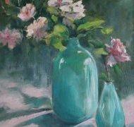 Les deux vases turquoise